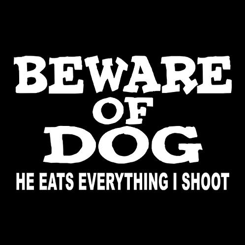 Beware Of Dog - White (G51)