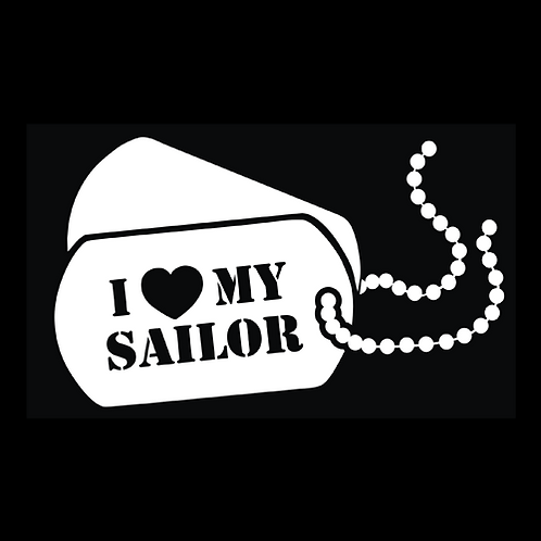 I Love My Sailor - Dog Tags (N37)