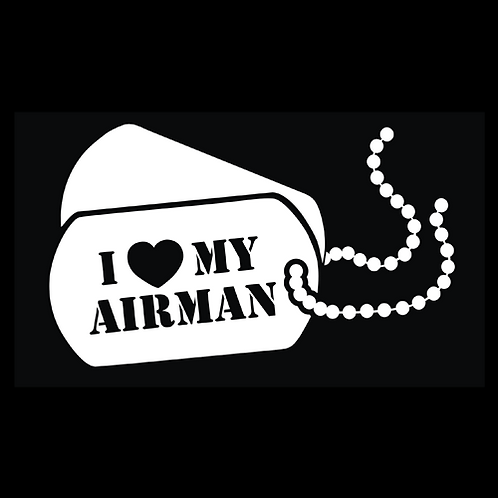 I Love My Airman - Dog Tags (AF32)