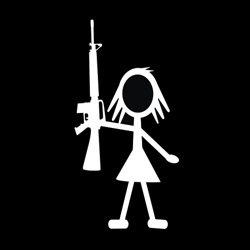 Teenage Girl Stick Figure - AR (G375)