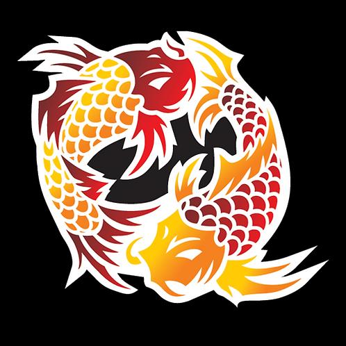 Red Orange Dancing Koi (AN21)