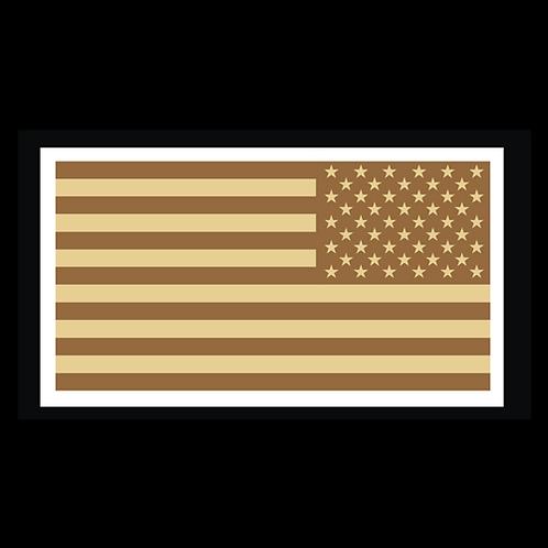 Tan American Flag - Reversed (MIL32B)