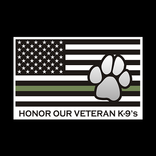 Green Line K9 - Honor Our Veteran K9s (MIL67)