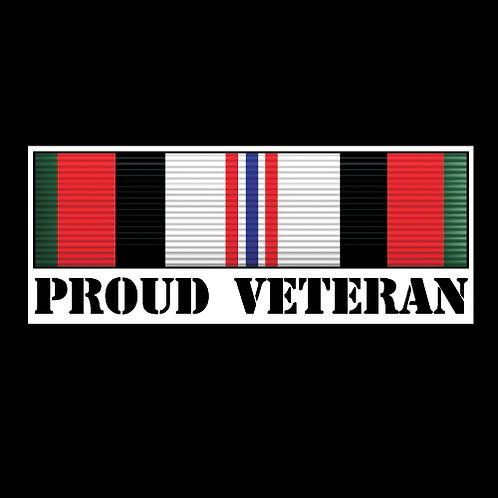 Proud Afghanistan Veteran Ribbon (MIL10)