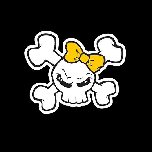 Yellow Bow Skull (SK27)