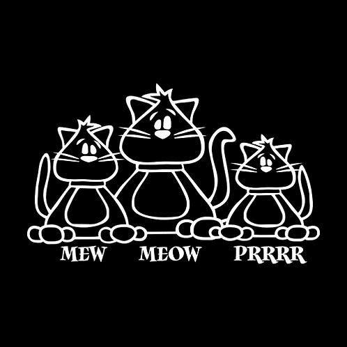 Mew Meow Prrr (White Cut) (PC17)