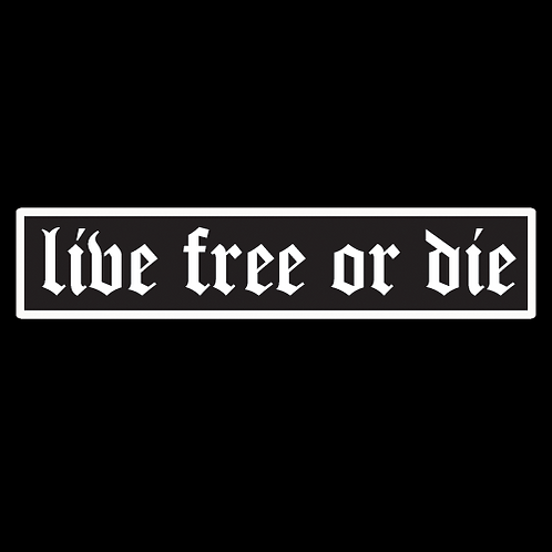 Live Free Or Die - Black (MIL42)
