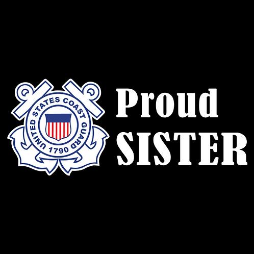 Proud Coast Guard Sister - Logo (CG21)