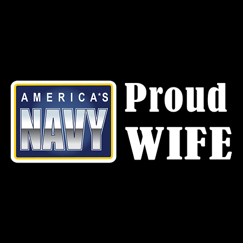 Proud Navy Wife - Logo (N19)