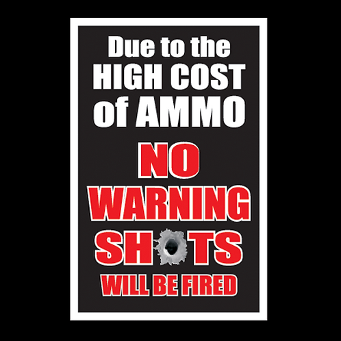 High Cost Of Ammo - Black (G120A)