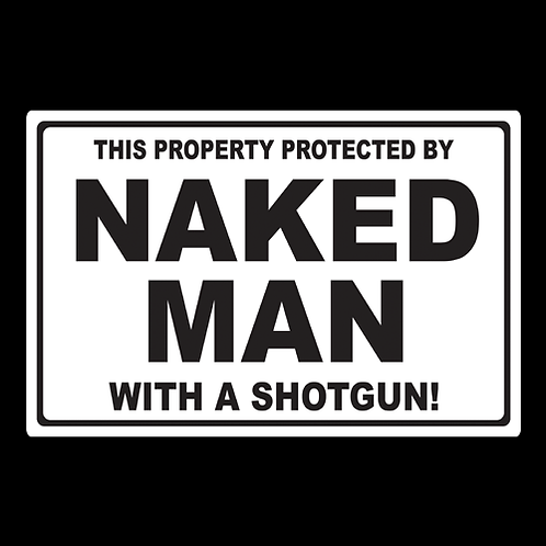 Naked Man - Sign (PVC-31)