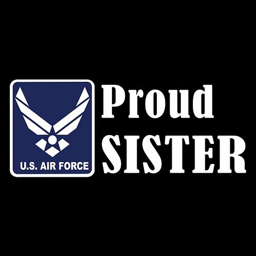 Proud Air Force Sister - Logo (AF20)