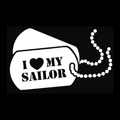I Love My Sailor - Dog Tags (CG32)