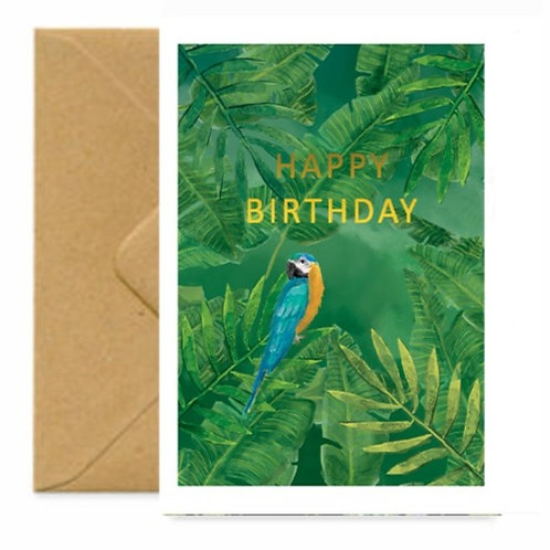 Tropical View Birthday Greetings Card