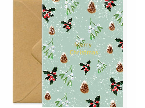 Holly, Pine cones & Mistletoe