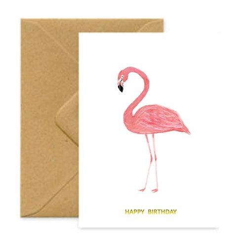 Flamingo Birthday Greetings Card