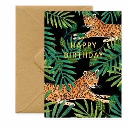 Jaguar Birthday Greetings Card