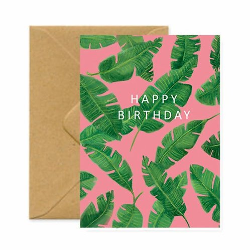 Banana Leaves Birthday Greetings Card