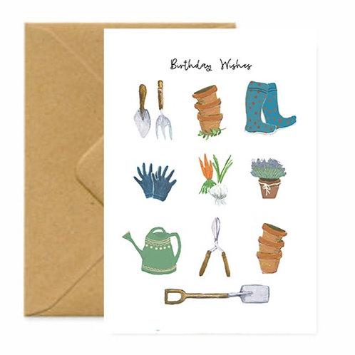 Happy Gardening Birthday Greetings Card