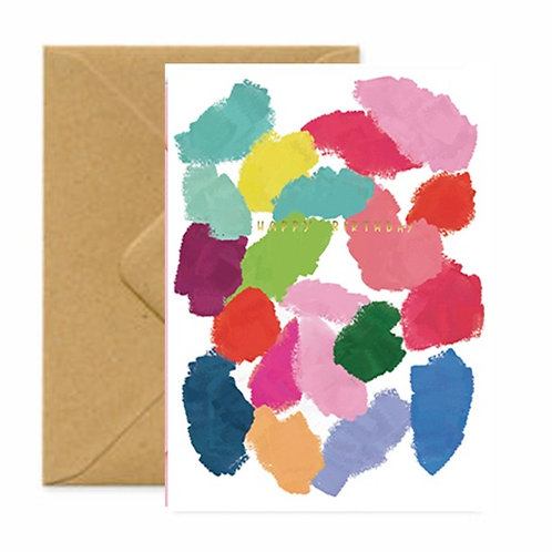Artist Pallette Birthday Greetings Card