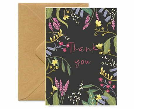 Hedgerow Thank you Greetings Card