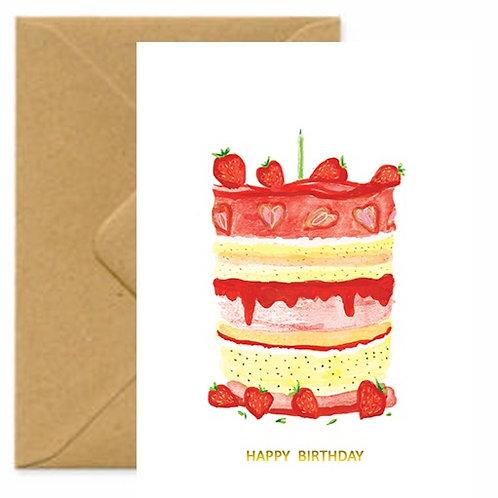 Layer Cake Birthday Greetings Card