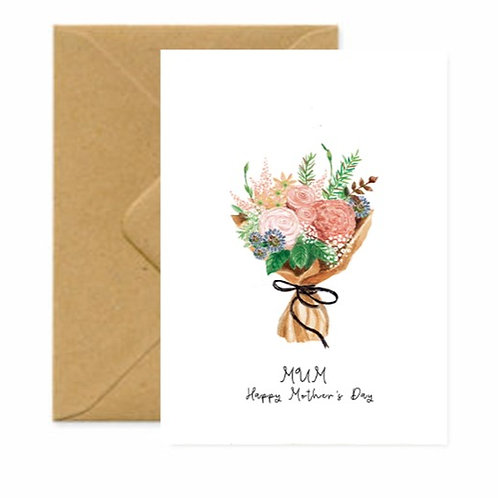 Country House Bouquet Mother's Day Greetings Card
