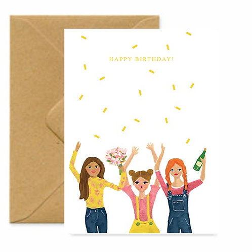 Party Girls Birthday Greetings Card