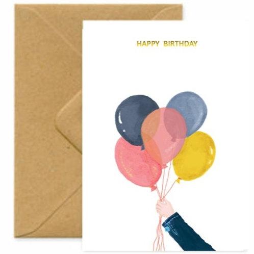 Balloons Birthday Greetings Card