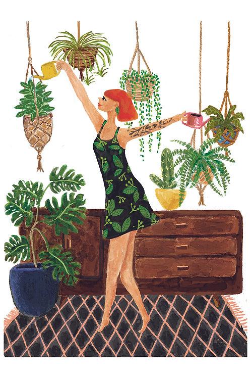Plant Addict Art Print