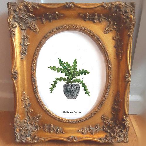 Fishbone Cactus Art Print