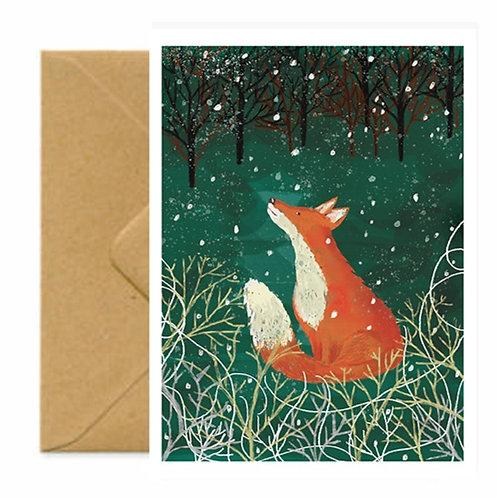 Winter Woodland Fox