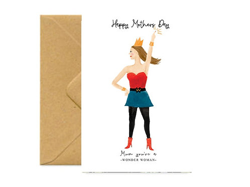Wonder Mum Mother's Day Greetings Card