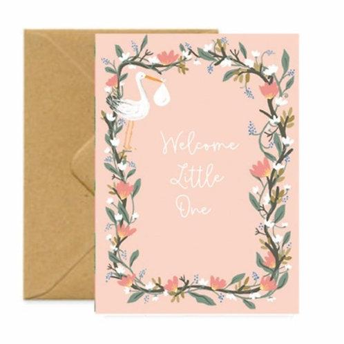 New Baby Girl Greetings Card