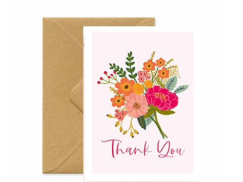Bouquet Thank you Greetings Card