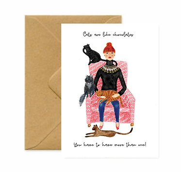 Catwoman Greetings Card