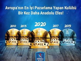 Anadolu Efes Spor Kulübü Avrupa'nın En İyi Pazarlama Yapan Kulübü!