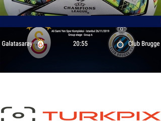 ATTENTION EDITORS: TURKPIX is offering the Galatasaray v Club Brugge K.V.