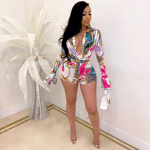 Locked In  Playsuit  One Piece Shorts Suit