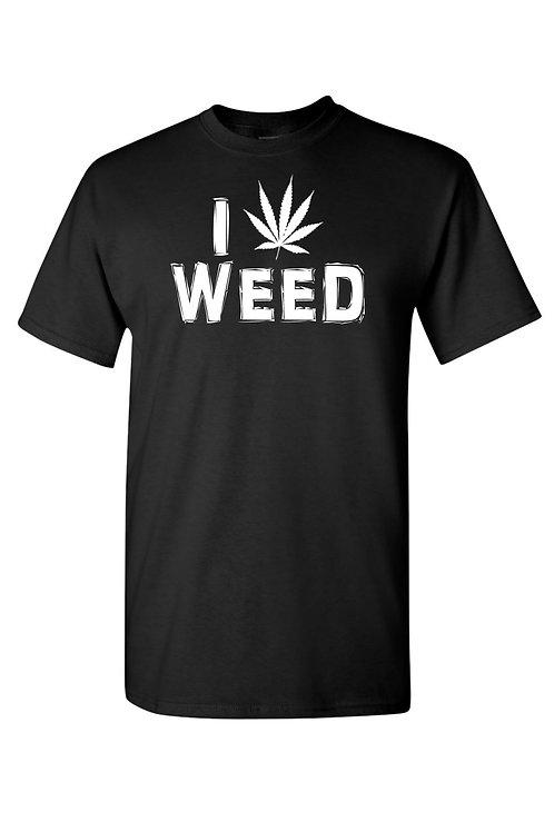 Unisex I Love Weed Short Sleeve Shirt