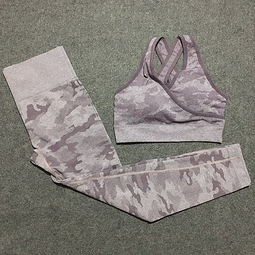 2 Piece Camo Workout Set