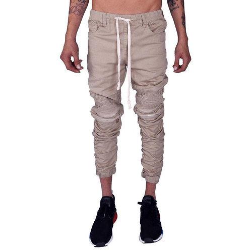 Mulisha Stacked Leg Joggers (Khaki)