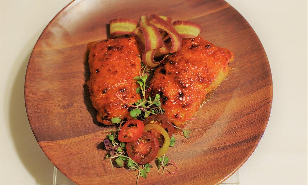 Chicken pastrami roll up
