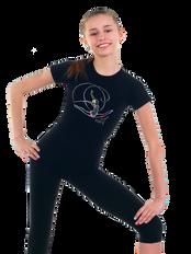 Gymnastic T-shirt in black