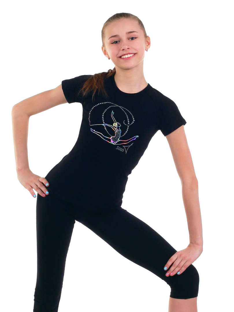 Gymnastic T-shirt in black