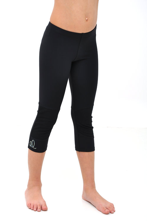 Cropped leggings with knee protection