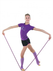 Gymnastic T-shirt in colour purpleel