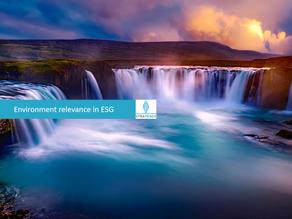 Environment relevance in ESG