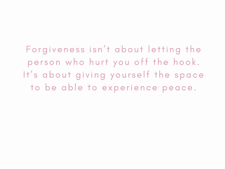 Forgiveness is an act of empowerment