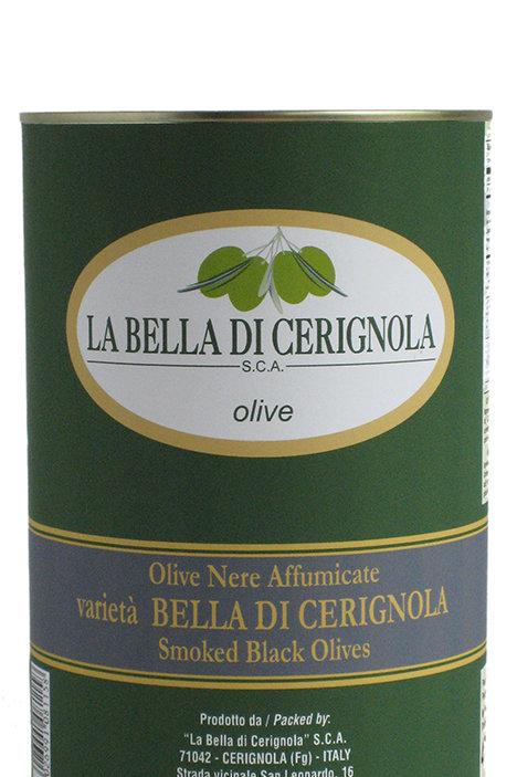 OLIVE NERE AFFUMICATE varietà BELLA DI CERIGNOLA 4700